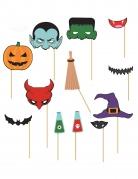 Kit photobooth 12 pièces Halloween