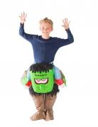 Déguisement monstre vert gonflable enfant