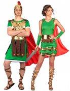 Déguisement couple de soldats romains adultes