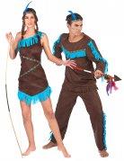 Déguisement de couple indien et indienne marron adultes