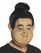 Masque latex tête de sumo adulte