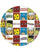 8 Assiettes en carton Avengers™ pop comic 20 cm