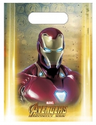 6 Sacs cadeaux Avengers Infinity War™ 23 x 16,5 cm