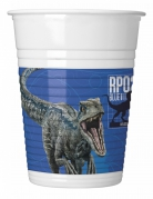 8 Gobelets en plastique Jurassic World 2™ 200 ml