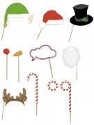 Kit photobooth 10 pièces Noël