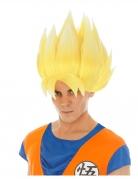 Perruque jaune Goku Saiyan Dragon ball Z™ adulte