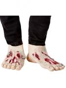 2 Sur-chaussures zombie en latex adulte