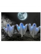Set 3 fantômes lumineux sur piquets 52 cm