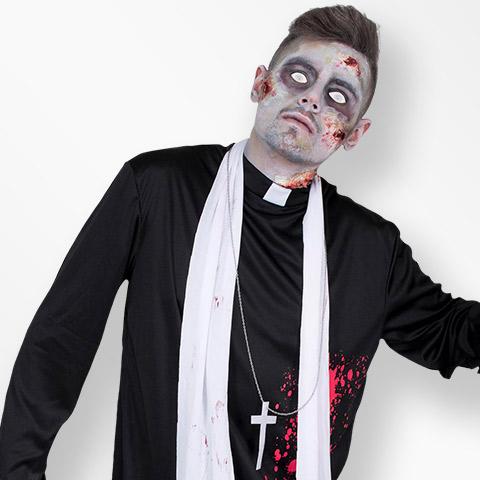 Nonnen en priesters halloween
