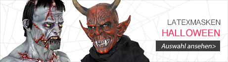 Latexmasken Halloween