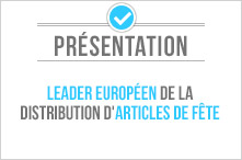 Leader europ�en de la distribution d\\\\\\\\\\\\\\\\\\\\\\\\\\\\\\\'articles de f�te