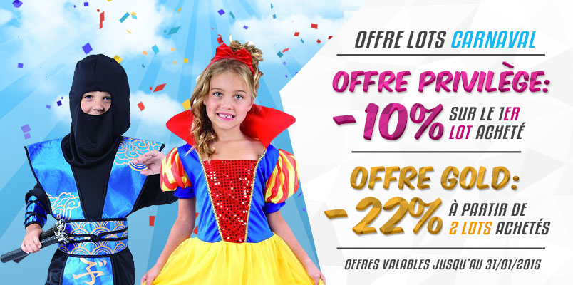 Offre Lots Carnaval