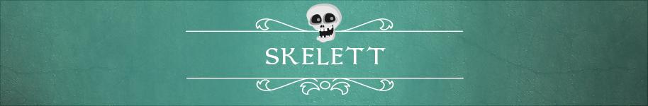 Ideen und Räte für ein klassisches Halloween zum Thema Skelett