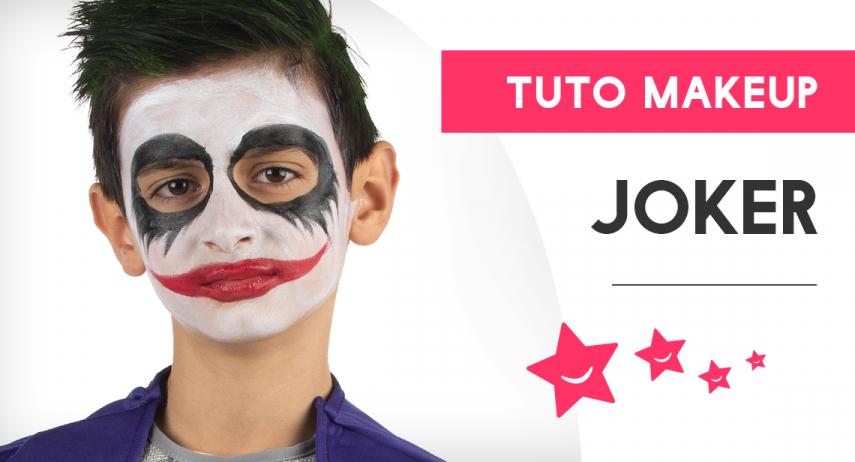 Tutoriel pour réaliser le maquillage du Joker pour un enfant