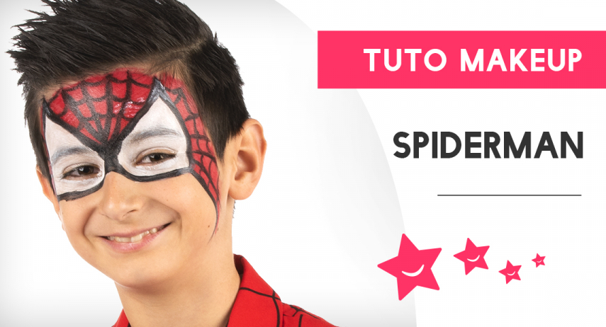Comment faire un maquillage de Spiderman ?