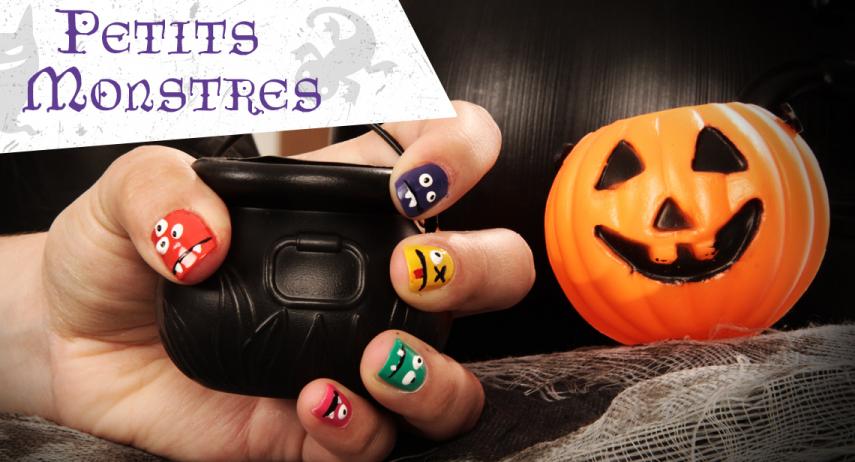 Tuto nail art d'Halloween : des petits monstres sur les ongles !