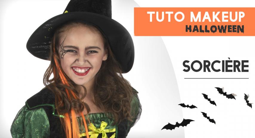 Tutoriel maquillage sorcière pour petite fille