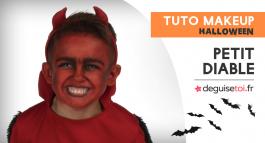 Tuto maquillage petit diable pour enfant