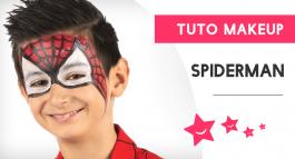 Tuto pour un maquillage de Spiderman pour enfant réussi