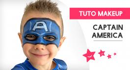 Comment réaliser un maquillage de Captain America pour enfant?