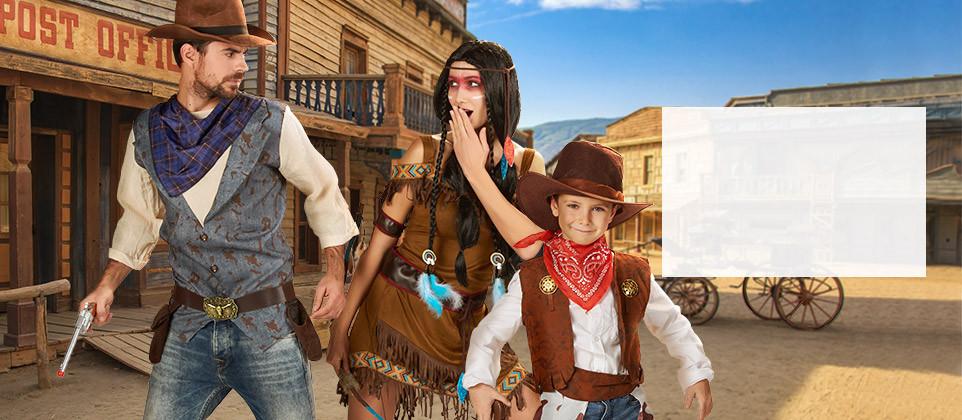 Déguisements et accessoires Cowboys et Indiens